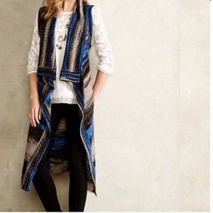 Anthropologie Moth Ombré Sweater Duster- like new
